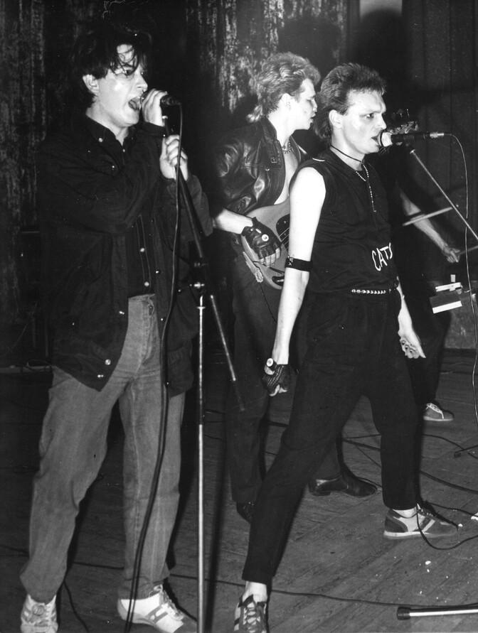 Слева первый — Павел Кондратенко. Москва, 1986 год. Автор: Георгий Молитвин