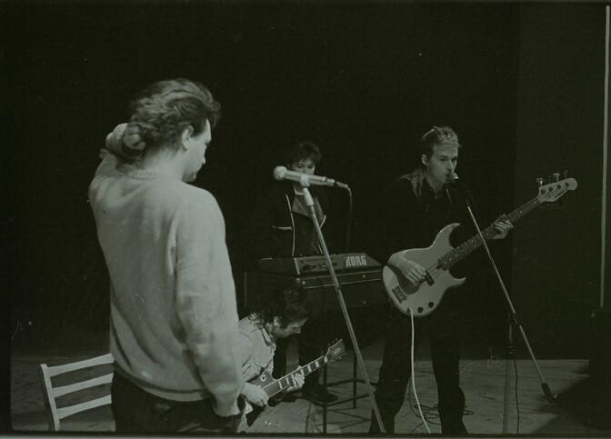 Павел Кондратенко — в центре. Киров, 1988 год. Автор: Сергей Скляров